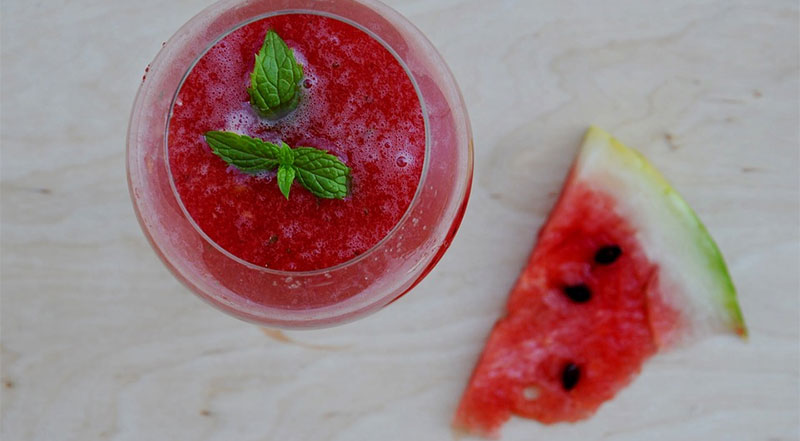 watermelon juice drink